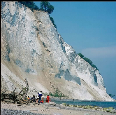 Dislocated Chalk cliff, Moen.